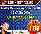 Cheap and Affordable UK Web Hosting Services provided by BODHost