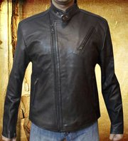 Tony stark iron man leather jacket