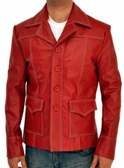Fight Club Brad Pitt Synthetic Leather Coat